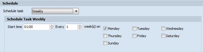 Weekly task
