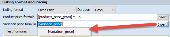 Variation price macros