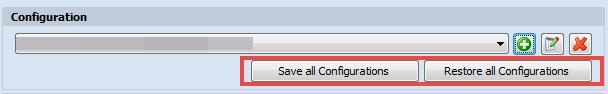 Save/Restore Configuration
