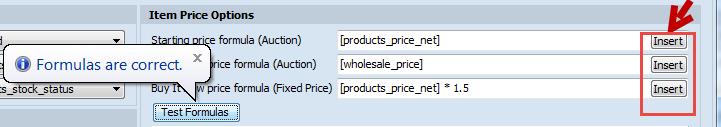 Item Price Options