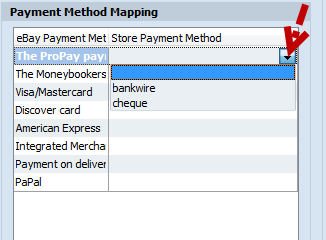 payment method mapping