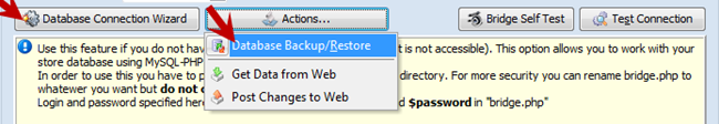 Backup and Restore buttons