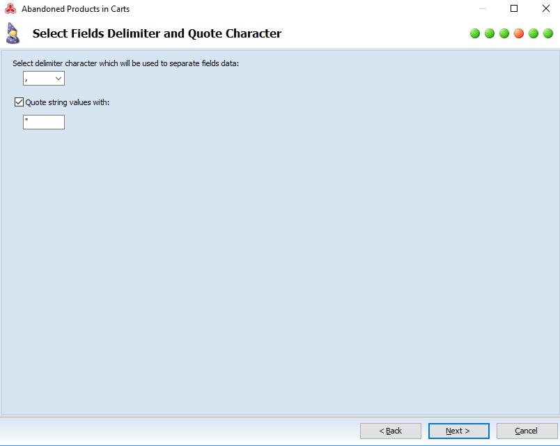 Select Fields Delimiter