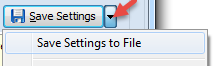 Save settings to a file