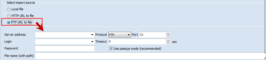 FTP URL to a file