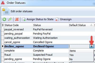 Default status column