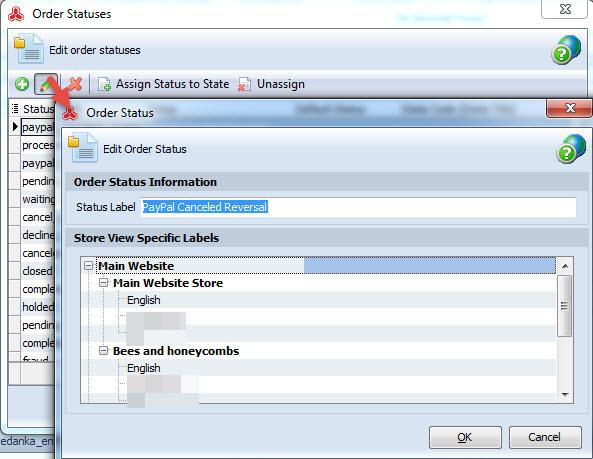 Edit order status