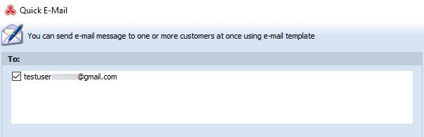 Check email checkbox