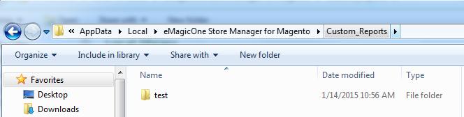 Custom Reports folder