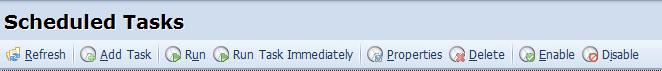 Scheduled Tasks toolbar