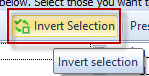 Invert Selection button