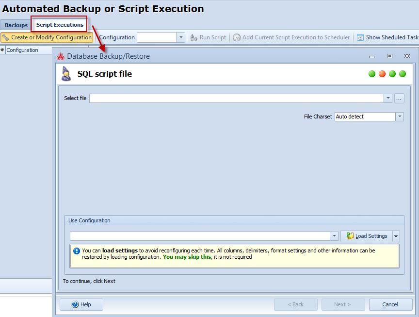 Script execution