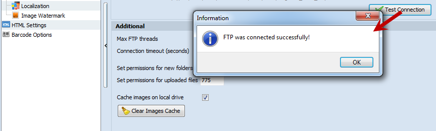FTP connection is successfully
