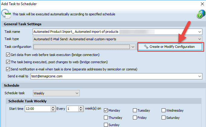 Create and modify configuration