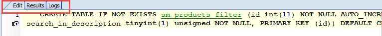 custom SQL tabs