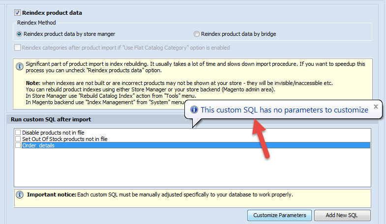 Cannot customize SQL message