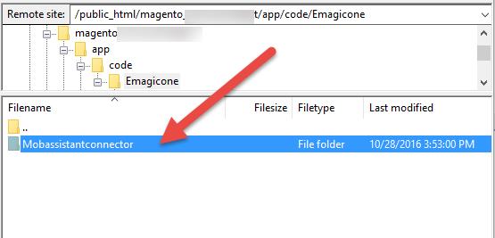 Delete mobassistantconnector folder