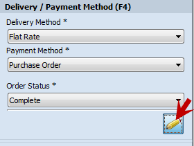 Delivery/Payment Method edit