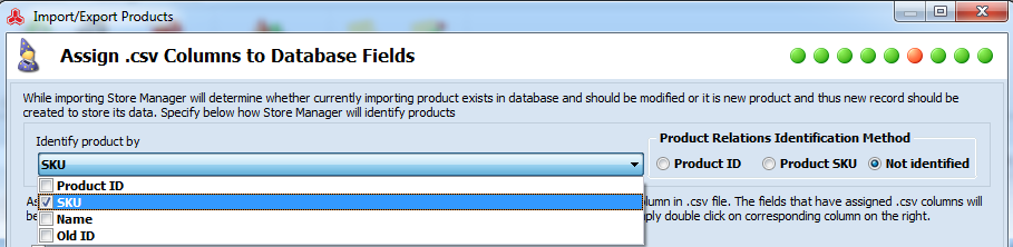 Identify products by...