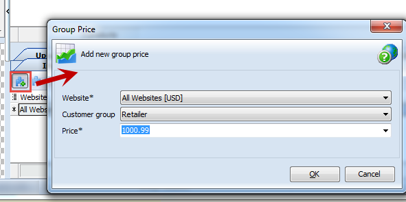 Add new group price
