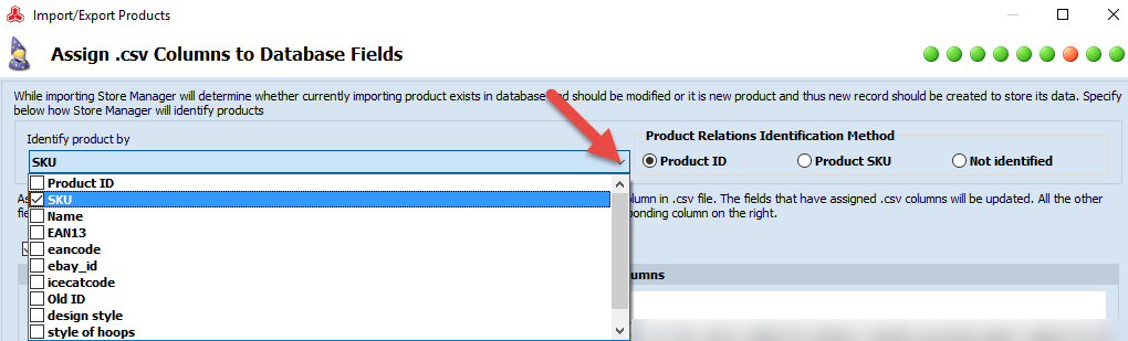 Product identifiers list