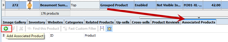 Add new associated to the grouped products