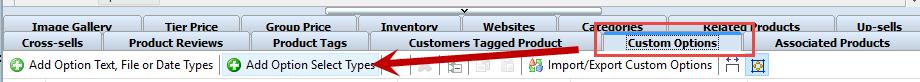Add option Select Type