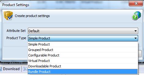 Create bundle product