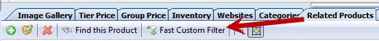 Related products tab - Fast Custom filter