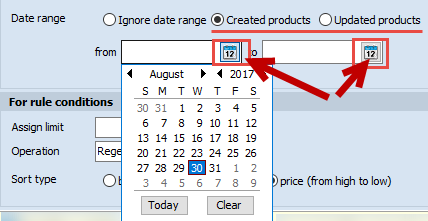 Date range fields
