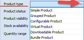 Product type field