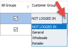 Customer Group column