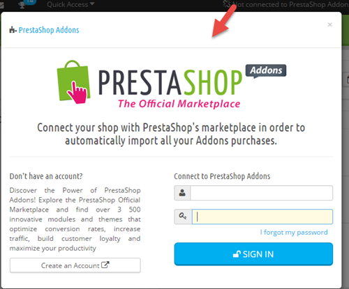 Prestashop form for Addons