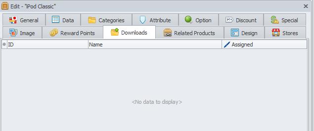 Downloads tab