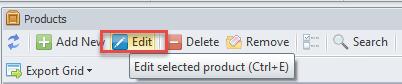 Edit product option