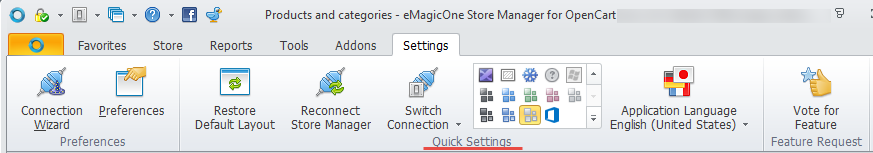 Quick Settings section