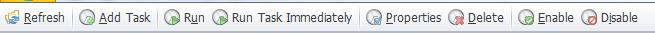 Scheduled lists toolbar