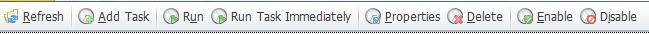 Tasks toolbar