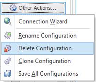 Delete configuration action