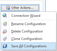 Save all configurations