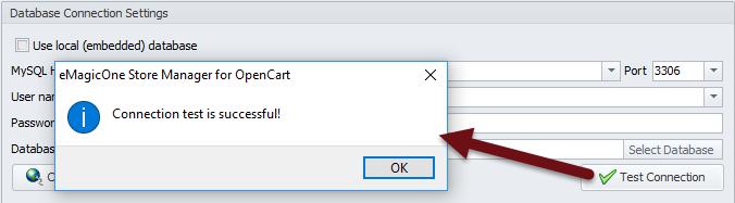Test Connection button