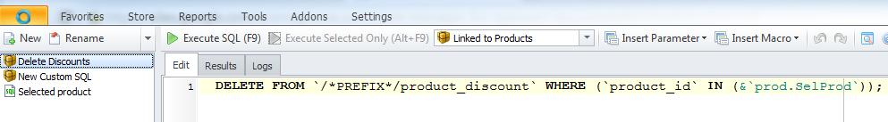 Custom SQL window