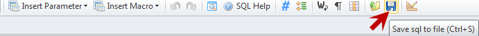 Save query to file