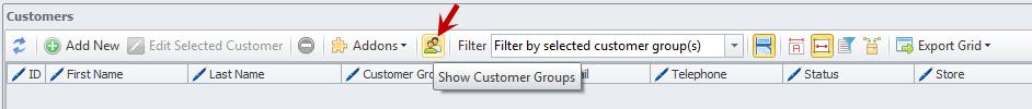 Show Customer Group option