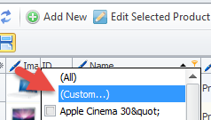 Custom filter option