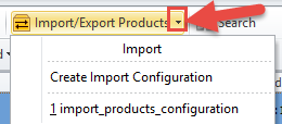 Create or Launch Import configuration