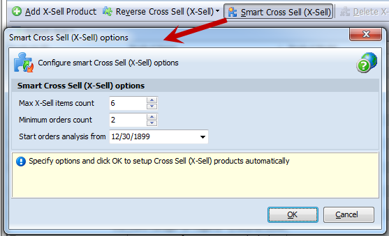 Smart Cross Sell button