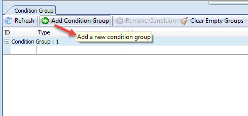 Add new condition group