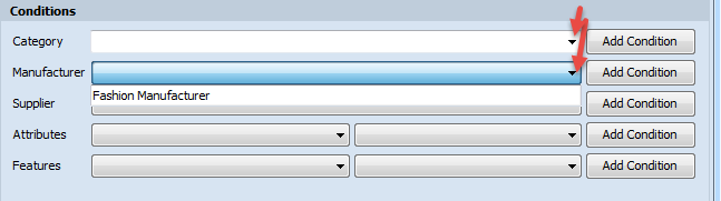 Browse button in dropdown