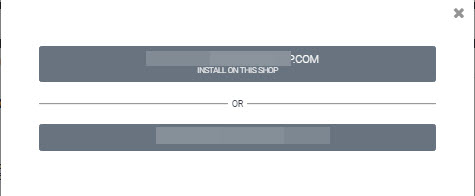 Choose webstore to Cloud installation